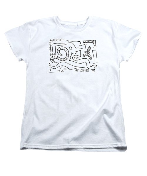 Doodle Women's T-Shirt (Standard Cut) by Patricia Cleasby