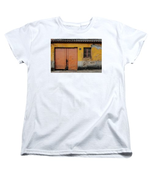 Women's T-Shirt (Standard Cut) featuring the photograph Door No 162 by Marco Oliveira