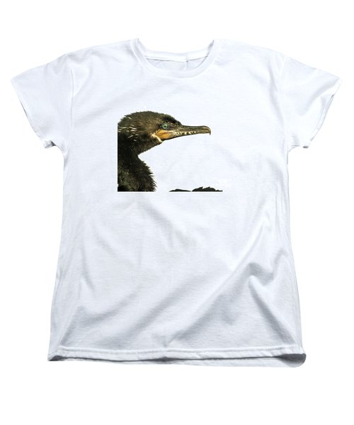 Women's T-Shirt (Standard Cut) featuring the photograph Double-crested Cormorant  by Robert Frederick