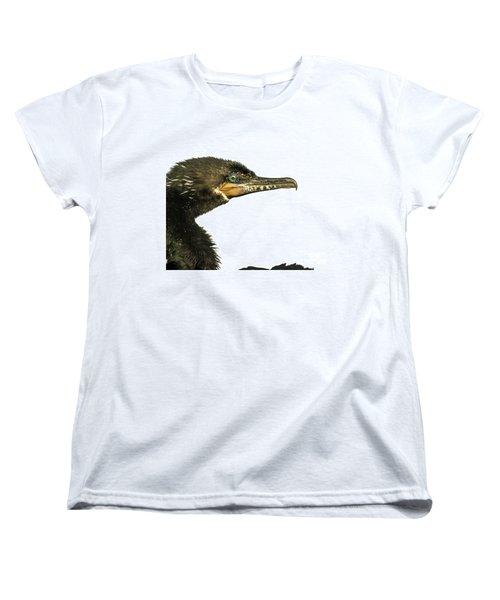 Double-crested Cormorant  Women's T-Shirt (Standard Cut) by Robert Frederick