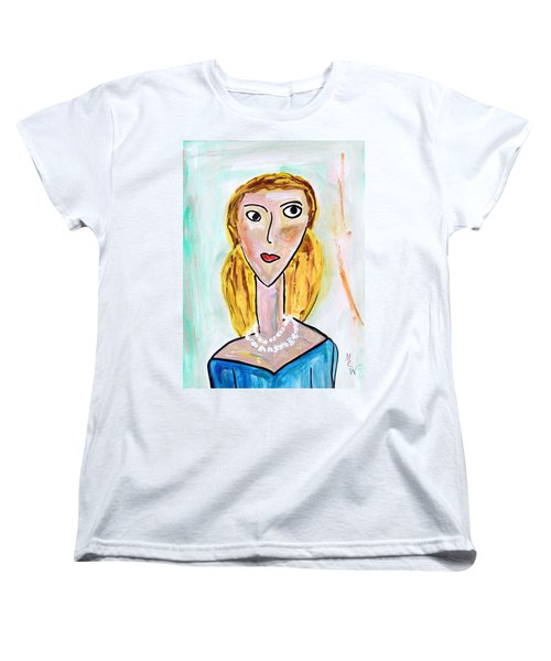 Women's T-Shirt (Standard Cut) featuring the painting Double Strand by Mary Carol Williams