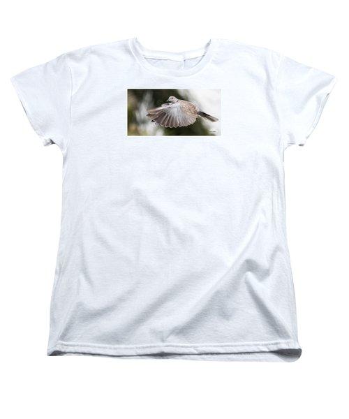 Women's T-Shirt (Standard Cut) featuring the photograph Dove Flight by Don Durfee