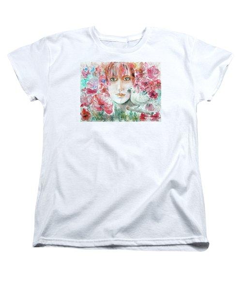 Dove Women's T-Shirt (Standard Cut) by Jasna Dragun