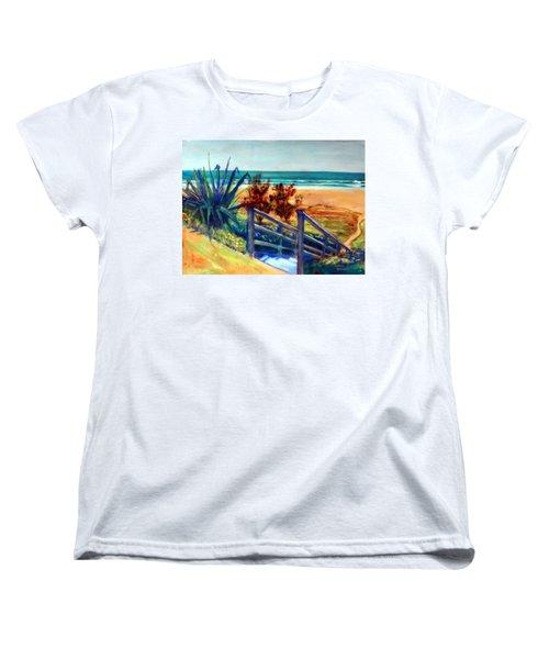 Down The Stairs To The Beach Women's T-Shirt (Standard Cut)
