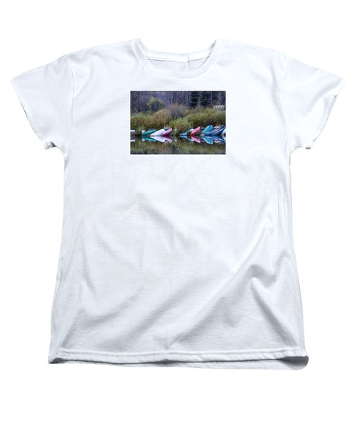 Downtime At Beaver Lake Women's T-Shirt (Standard Cut) by Alana Thrower