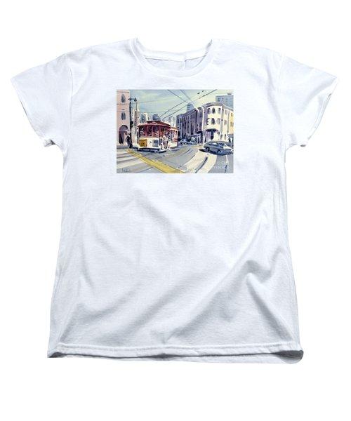 Downtown San Francisco Women's T-Shirt (Standard Cut) by Donald Maier