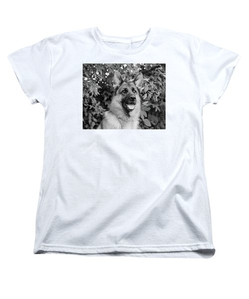 Women's T-Shirt (Standard Cut) featuring the photograph Drake Watching by Sandy Keeton
