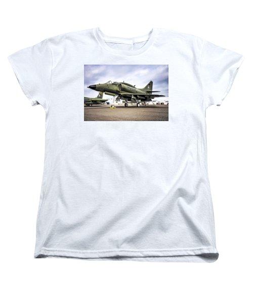 Douglas A-4m Skyhawk II Women's T-Shirt (Standard Cut) by Michael White