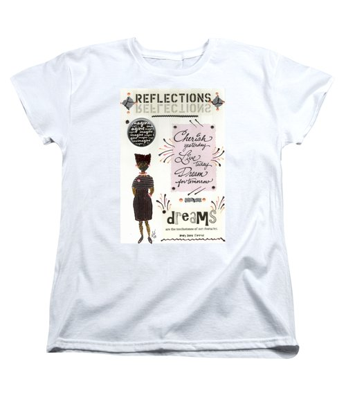 Women's T-Shirt (Standard Cut) featuring the mixed media Dream For Tomorrow by Angela L Walker