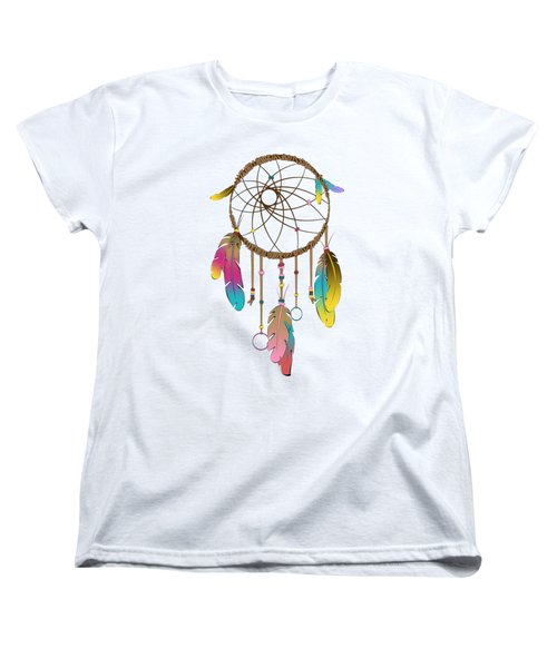 Dreamcatcher Rainbow Women's T-Shirt (Standard Cut) by Vanessa-May Dolphin