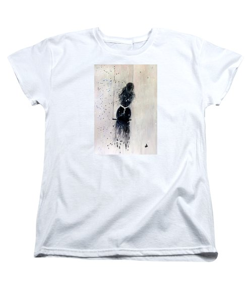 Women's T-Shirt (Standard Cut) featuring the painting Dreams Come True.. 6 by Cristina Mihailescu