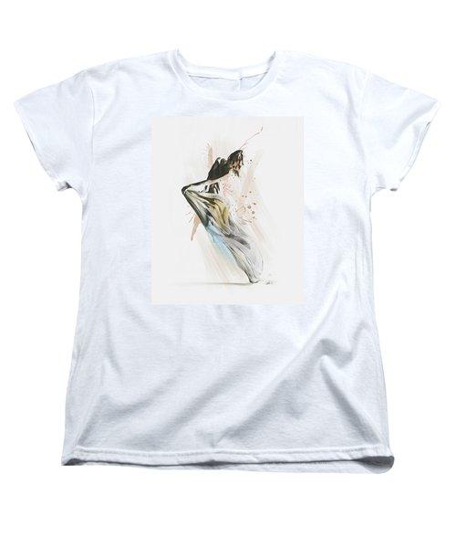 Women's T-Shirt (Standard Cut) featuring the digital art Drift Contemporary Dance by Galen Valle