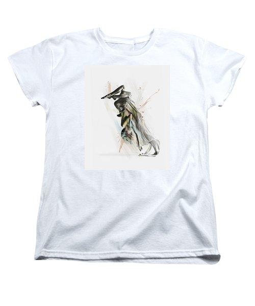 Women's T-Shirt (Standard Cut) featuring the digital art Drift Contemporary Dance Two by Galen Valle