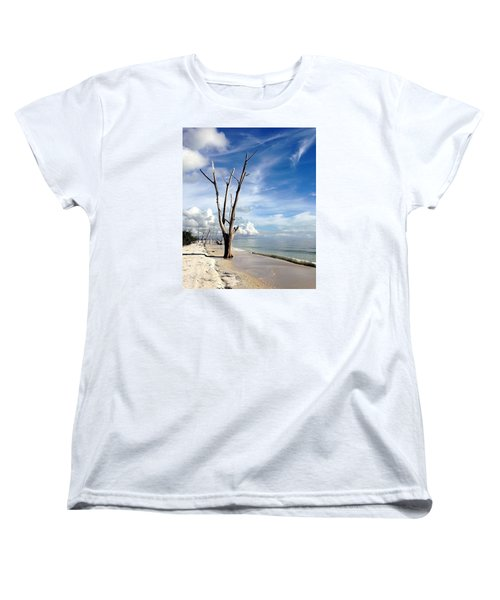 Women's T-Shirt (Standard Cut) featuring the photograph Driftwood At Lovers Key State Park by Janet King