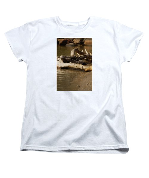 Women's T-Shirt (Standard Cut) featuring the photograph Driftwood by Ramona Whiteaker