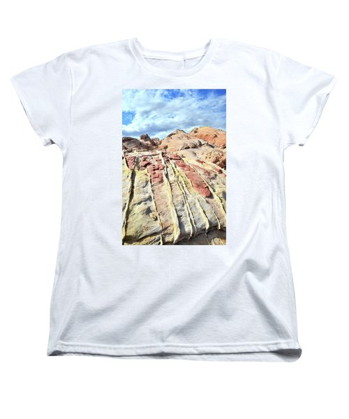 Dripping Color In Valley Of Fire Women's T-Shirt (Standard Cut) by Ray Mathis