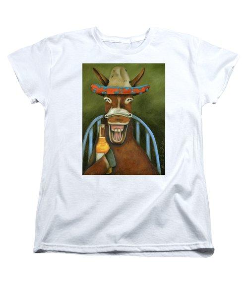 Drunken Dumb Ass Women's T-Shirt (Standard Cut) by Leah Saulnier The Painting Maniac