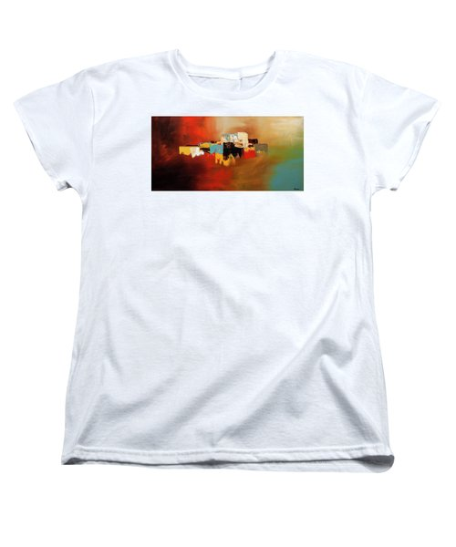 Women's T-Shirt (Standard Cut) featuring the painting Du Soleil by Carmen Guedez
