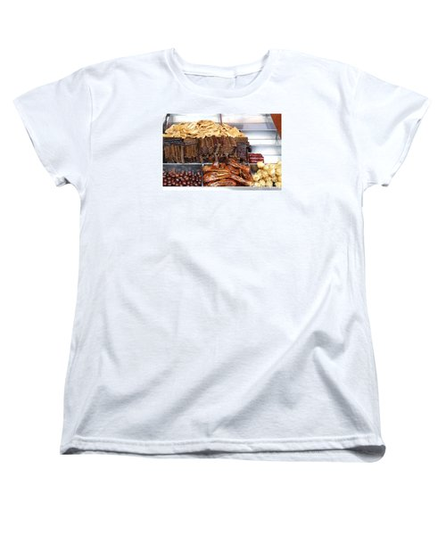 Duck Heads In Soy Sauce And Rice And Blood Cakes Women's T-Shirt (Standard Cut) by Yali Shi