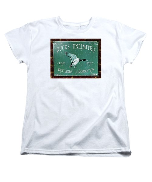 Ducks Unlimited Vintage Sign Women's T-Shirt (Standard Cut)
