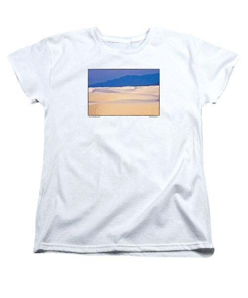 Women's T-Shirt (Standard Cut) featuring the photograph Dunes With Mountains by R Thomas Berner