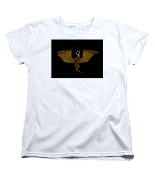 Dunjon T-shirt Print 2 White Women's T-Shirt (Standard Cut)