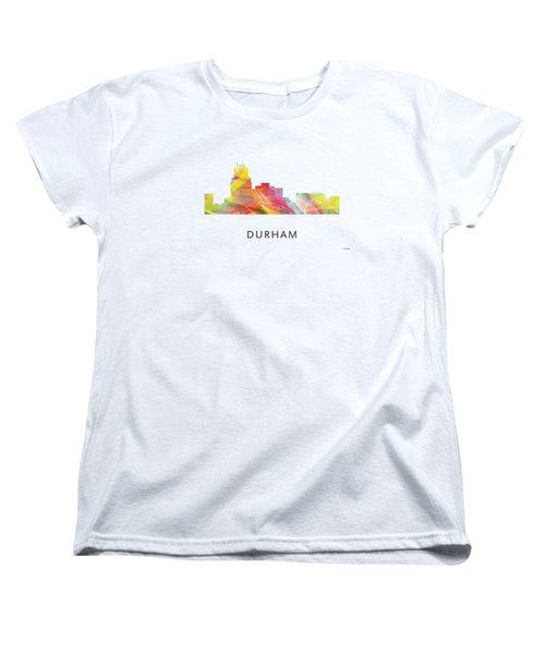 Durham North Carolina Skyline Women's T-Shirt (Standard Cut) by Marlene Watson