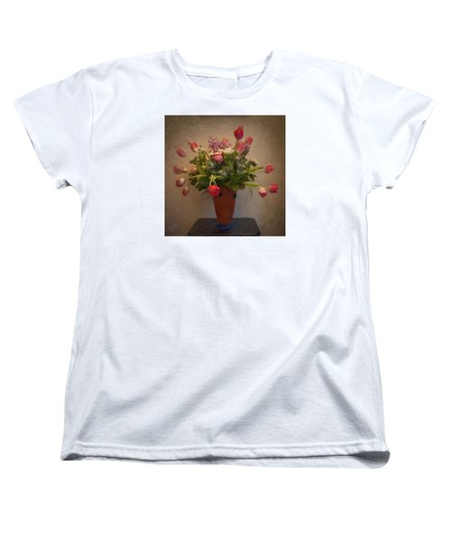 Dutch Flowers Blooming Women's T-Shirt (Standard Cut) by Nop Briex