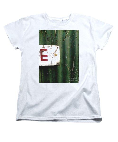 E Women's T-Shirt (Standard Cut) by Rebecca Harman