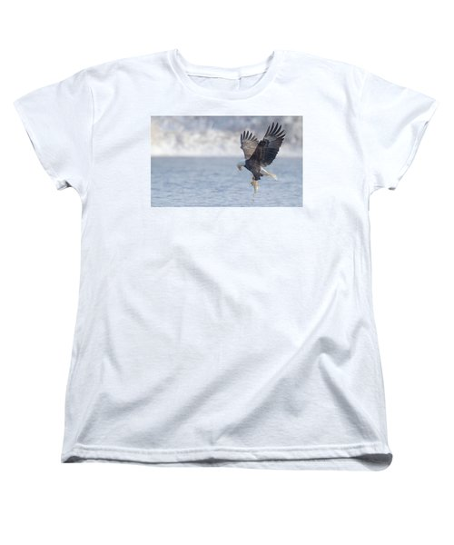 Eagle Fishing  Women's T-Shirt (Standard Cut) by Kelly Marquardt