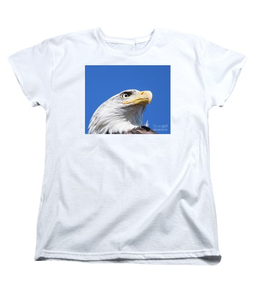Women's T-Shirt (Standard Cut) featuring the photograph Eagle by Jim  Hatch