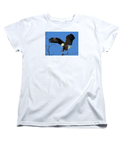 Women's T-Shirt (Standard Cut) featuring the photograph Eagle Landing by Coby Cooper