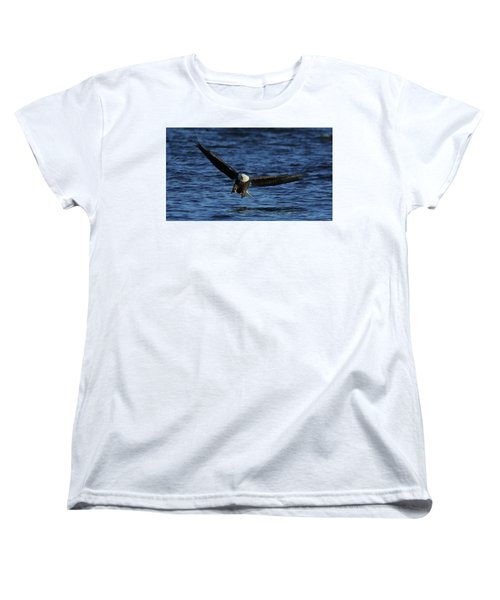 Women's T-Shirt (Standard Cut) featuring the photograph Eagle With Talons Up by Coby Cooper