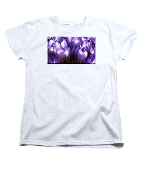 Early Crocus Women's T-Shirt (Standard Cut) by Mikki Cucuzzo