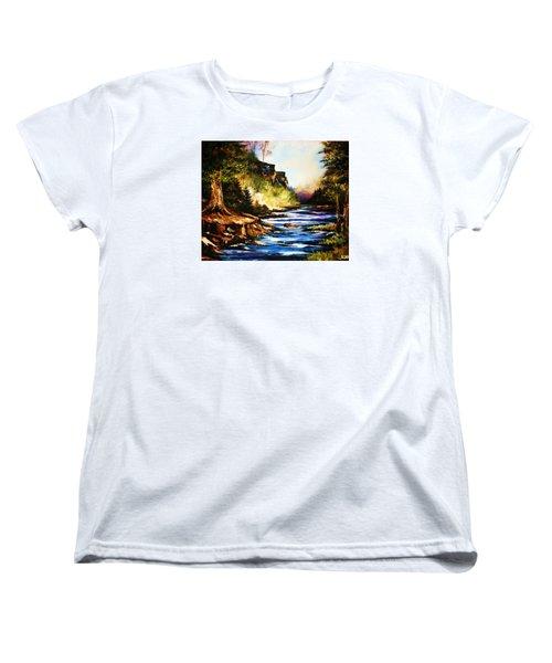 Early Dawn Campfire Women's T-Shirt (Standard Cut) by Al Brown