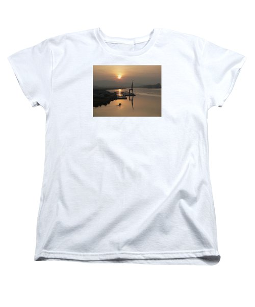 Women's T-Shirt (Standard Cut) featuring the photograph Early Hour On The River by Lucinda Walter