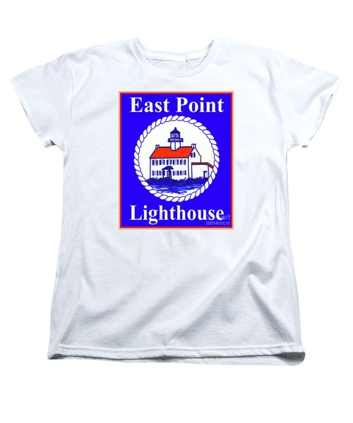 East Point Lighthouse Road Sign Women's T-Shirt (Standard Cut) by Nancy Patterson