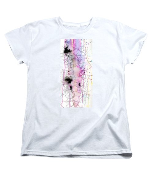 Women's T-Shirt (Standard Cut) featuring the painting Easter Egg Fry Up by Rebecca Davis