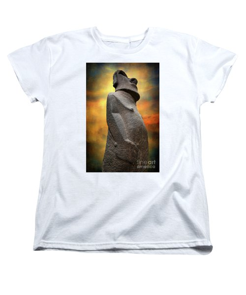 Women's T-Shirt (Standard Cut) featuring the photograph Easter Island Moai by Adrian Evans