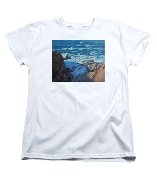 Women's T-Shirt (Standard Cut) featuring the painting Ebb And Flow by Karen Ilari