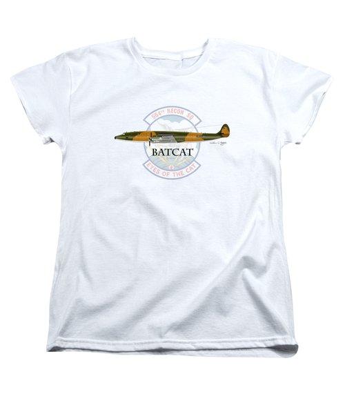 Ec-121r Batcat Women's T-Shirt (Standard Cut) by Arthur Eggers