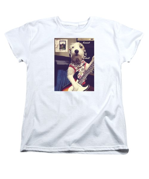 Eddie Plays Guitar Women's T-Shirt (Standard Cut) by Richard Reeve