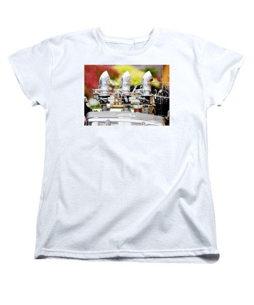 Women's T-Shirt (Standard Cut) featuring the photograph Edelbrock Side View by Chris Dutton
