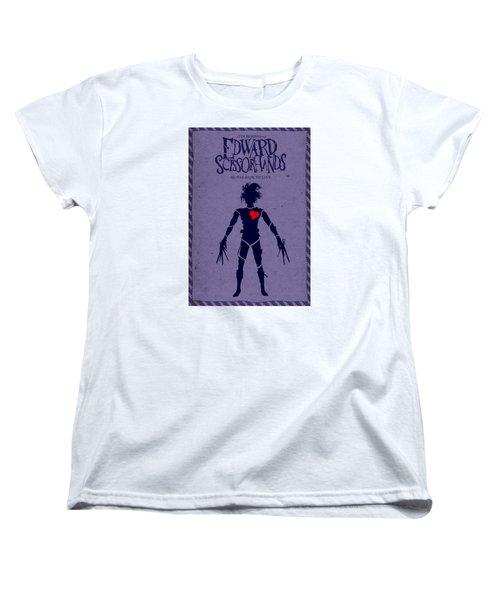 Edward Scissorhands Alternative Poster Women's T-Shirt (Standard Cut) by Christopher Ables
