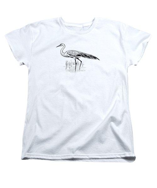 Egret Women's T-Shirt (Standard Cut) by Mordax Furittus