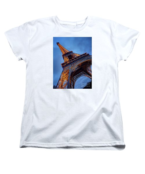 Women's T-Shirt (Standard Cut) featuring the photograph Eiffel Dressed In Gold by Kim Andelkovic