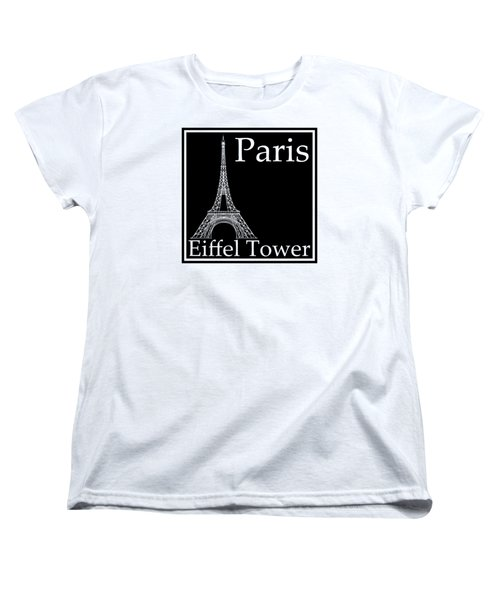 Eiffel Tower In Black Women's T-Shirt (Standard Cut) by Custom Home Fashions