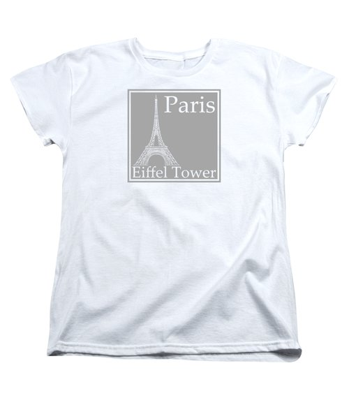 Eiffel Tower In Gray Women's T-Shirt (Standard Cut) by Custom Home Fashions