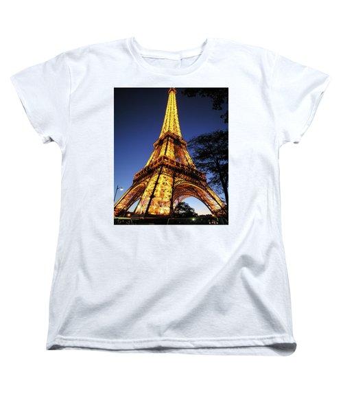 Women's T-Shirt (Standard Cut) featuring the photograph Eiffel Tower by Jim Mathis