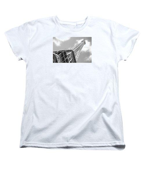 Eiffel Tower Sketch  Women's T-Shirt (Standard Cut) by Jim  Hatch